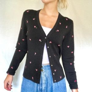 Ann Taylor Loft embroidered cardigan